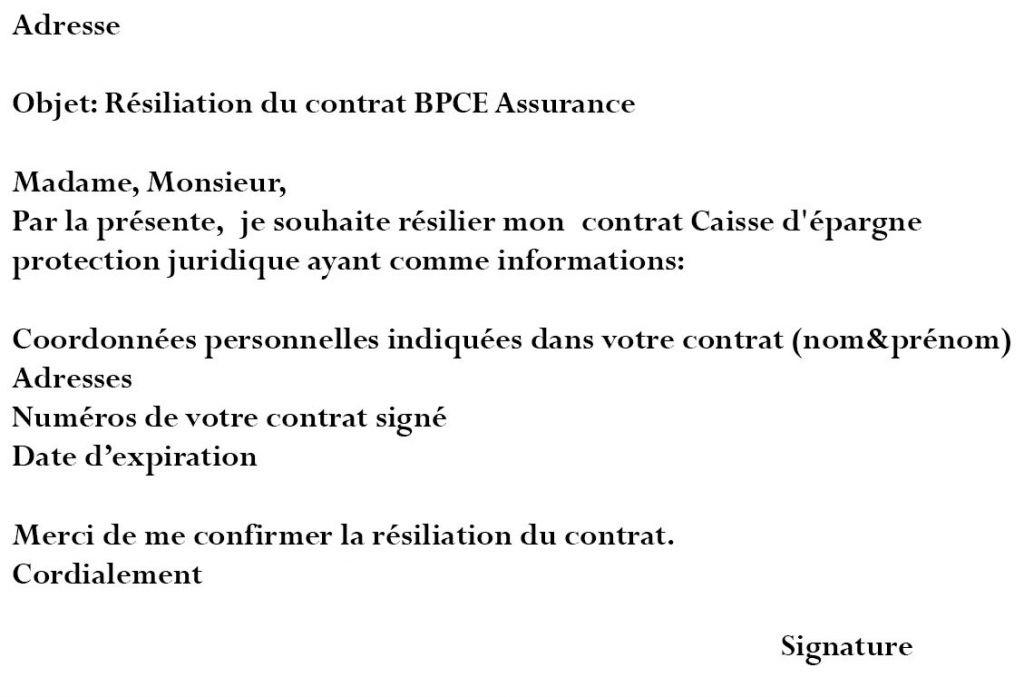adresse resiliation bpce assurance