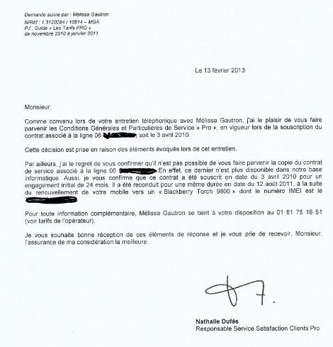 adresse resiliation contrat bouygues