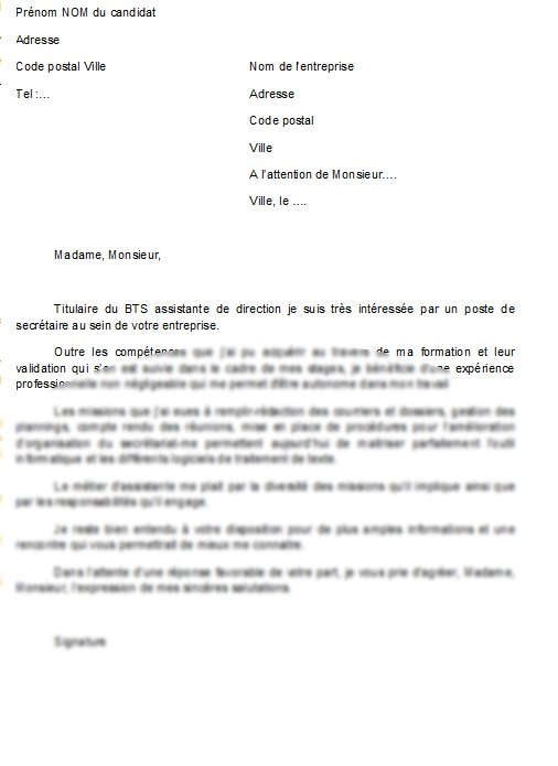 assistante administrative lettre motivation - Modele de ...