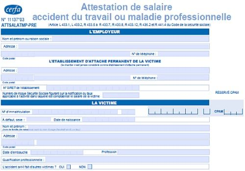 attestation accident