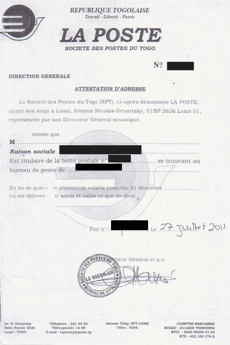 attestation adresse