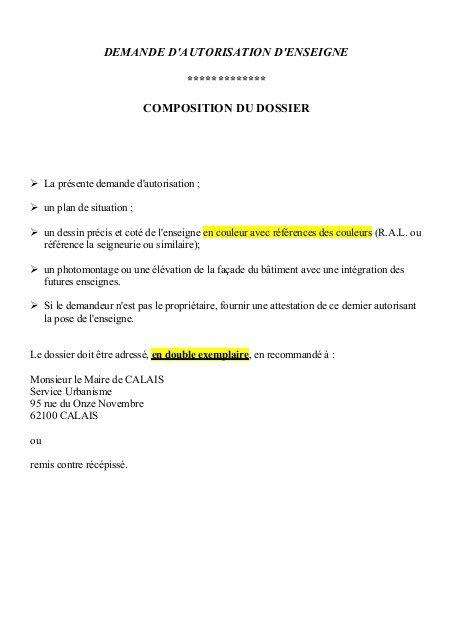 attestation d autorisation