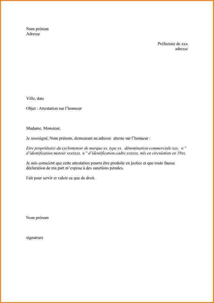 attestation d'habitation lettre
