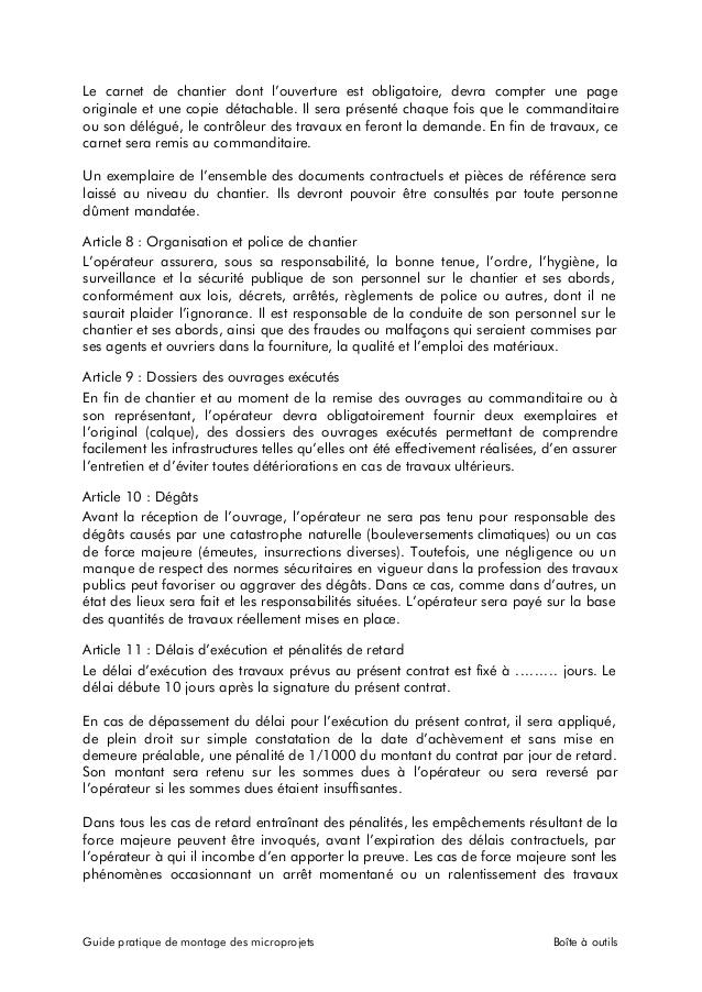Attestation De Realisation De Contrat Modele De Lettre Type