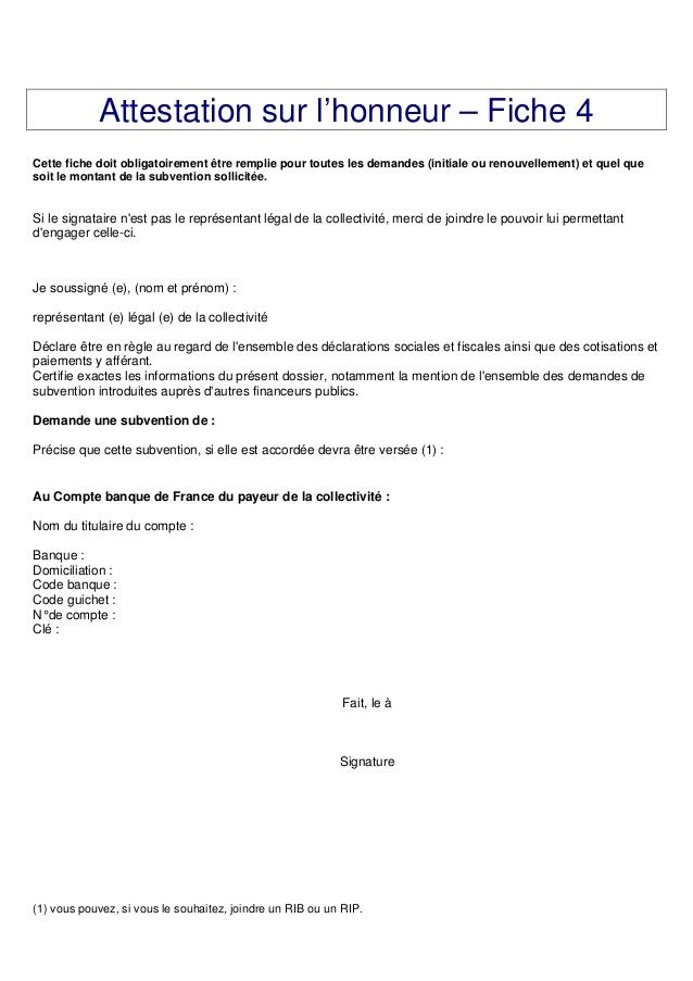 attestation sur l u0026 39 honneur de domiciliation