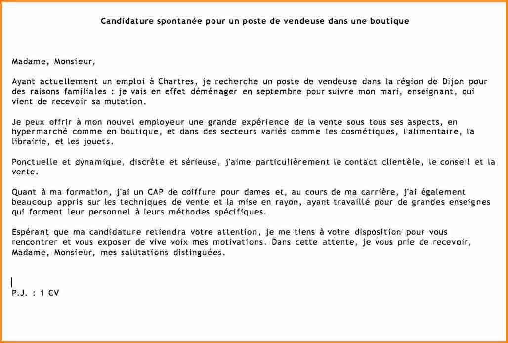 candidature spontanee exemple mail - Modele de lettre type