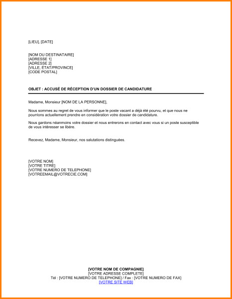 candidature spontanee exemple mail