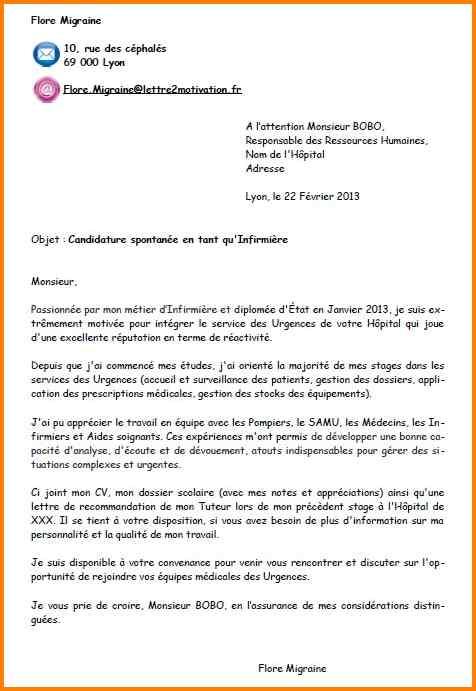 Candidature Spontanee Exemple Mail Modele De Lettre Type