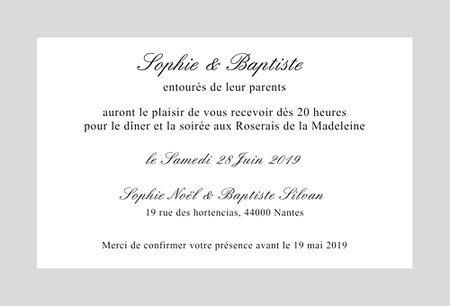 carte d invitation texte