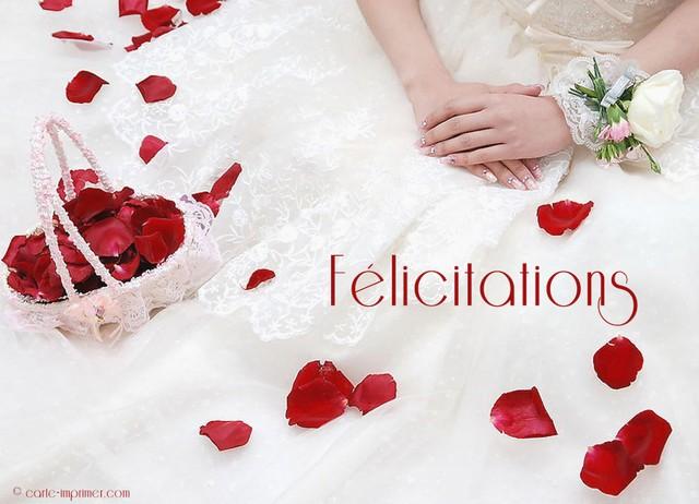 carte felicitation de mariage a imprimer gratuite