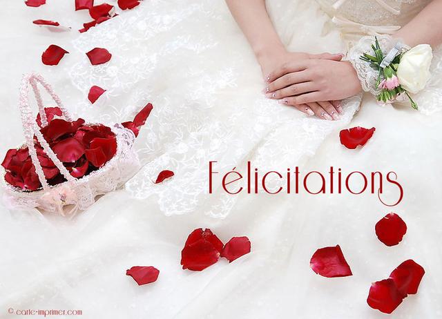 Carte mariage felicitations gratuite modele de lettre type - Modele carte de voeux gratuite a imprimer ...