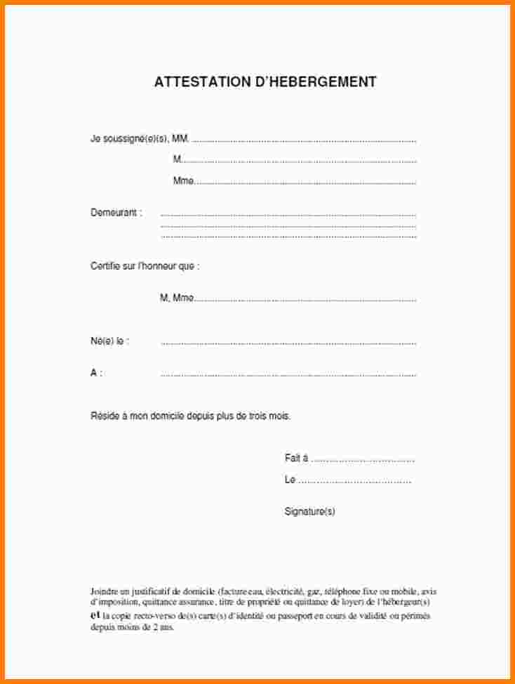 certificat d'hebergement exemple