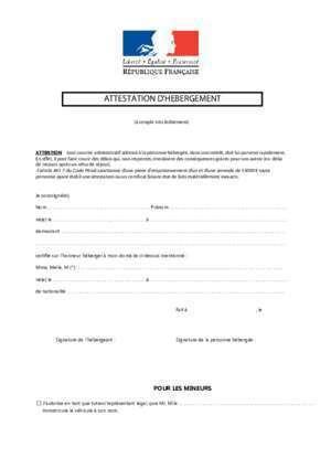 certificat de logement - Modele de lettre type