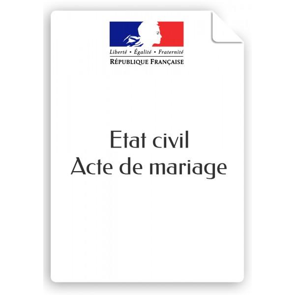 certificat de mariage vierge