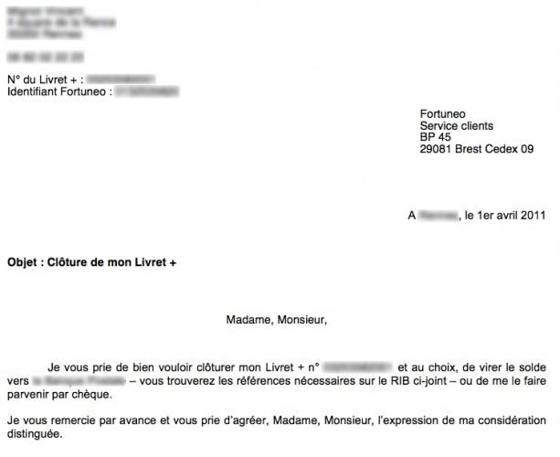 Cloturation De Compte Banque Postale Modele De Lettre Type