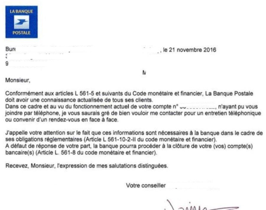 Cloturer Ccp Banque Postale Modele De Lettre Type