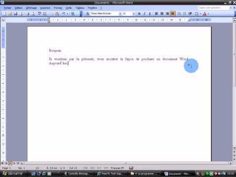 comment ecrire une lettre sur pc