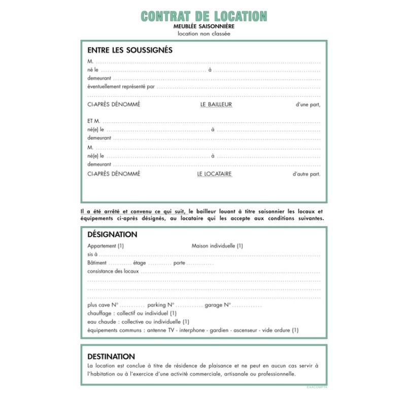 contrat de location format word - Modele de lettre type