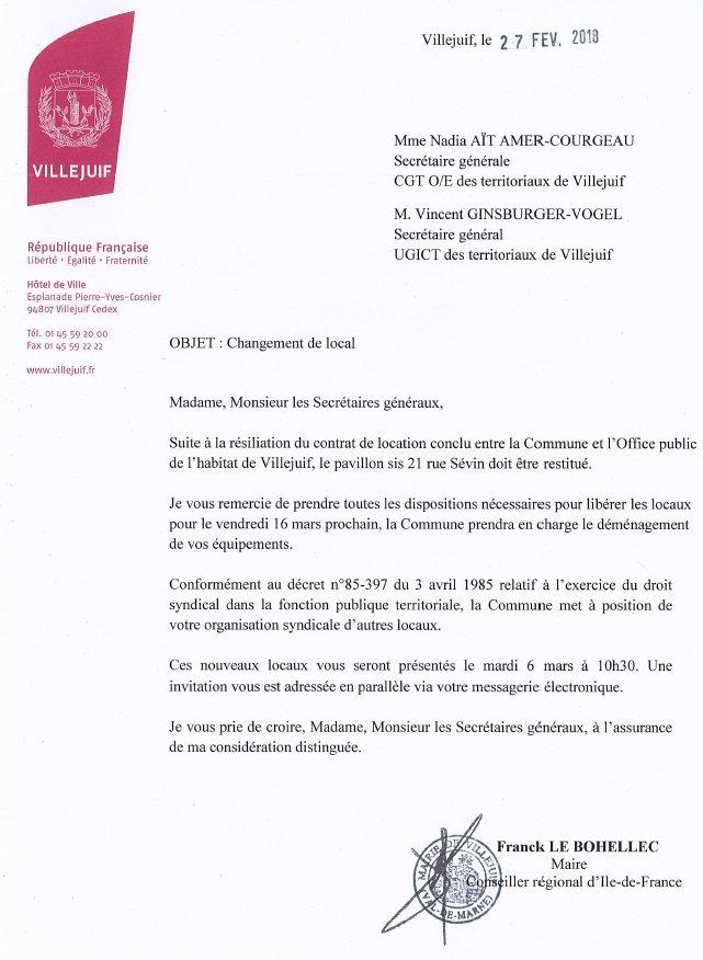 courrier d'invitation au maire - Modele de lettre type