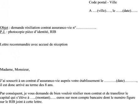 courrier de cloture de compte bancaire - Modele de lettre type