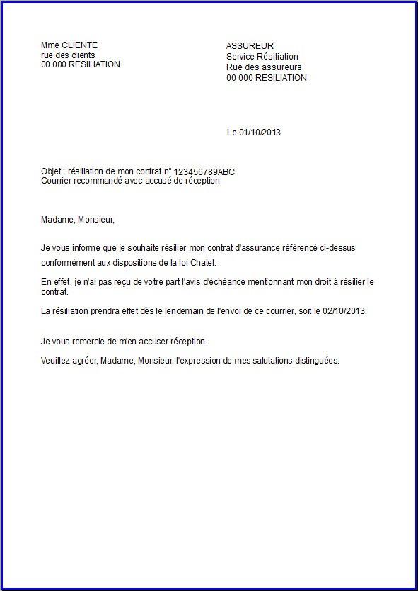 courrier r2siliation assurance