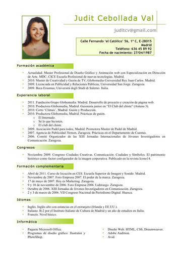 curriculum vitae en pdf