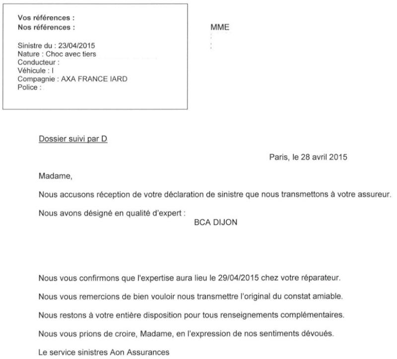 Declaration De Bris De Glace Auto Modele De Lettre Type