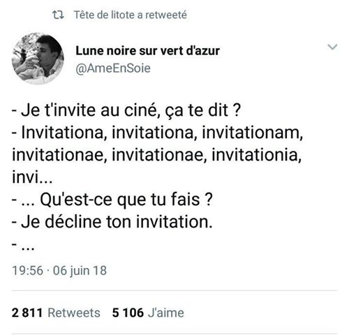 decliner une invitation