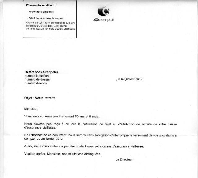 demande d'indemnisation pole emploi