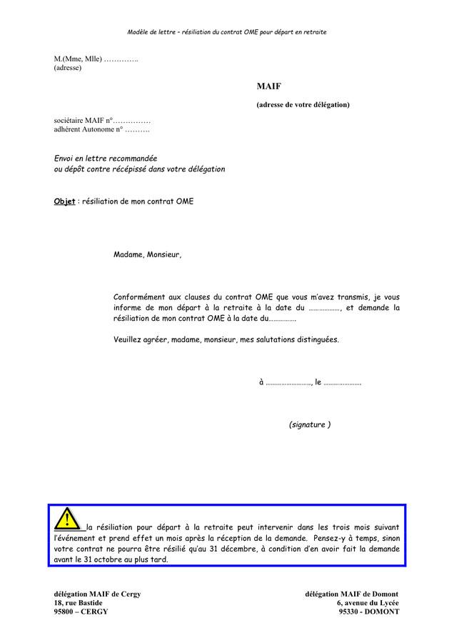 Demande Depart A La Retraite Modele Lettre Modele De Lettre Type