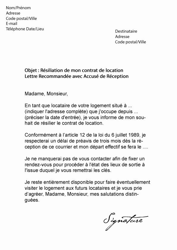 exemple de lettre de resiliation orange internet
