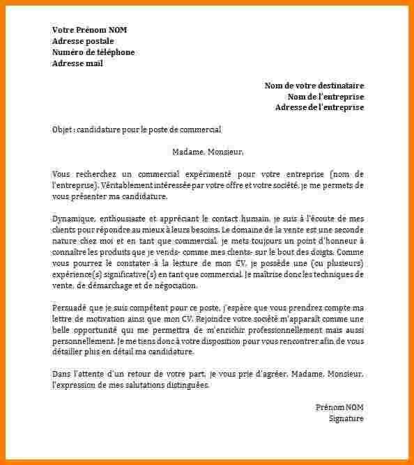 ecrire lettre officiel