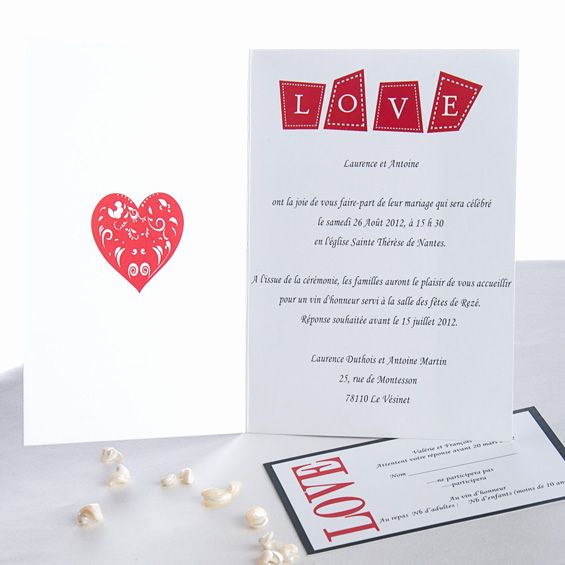 excuse invitation mariage
