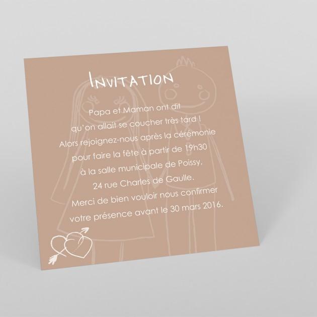 exemplaire de carte d invitation de mariage