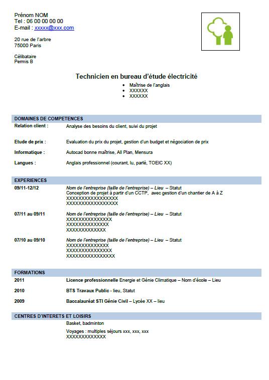 exemple cv pdf gratuit