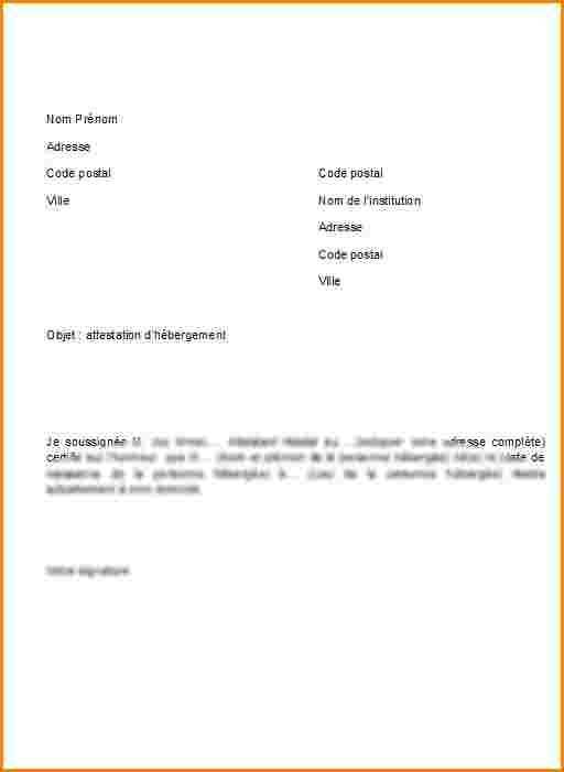 exemple d'attestation de domicile - Modele de lettre type