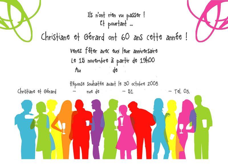 Modele De Carte D Invitation D Anniversaire