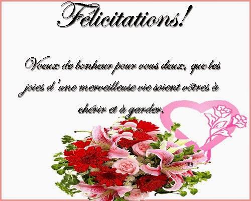 exemple de felicitation pour mariage