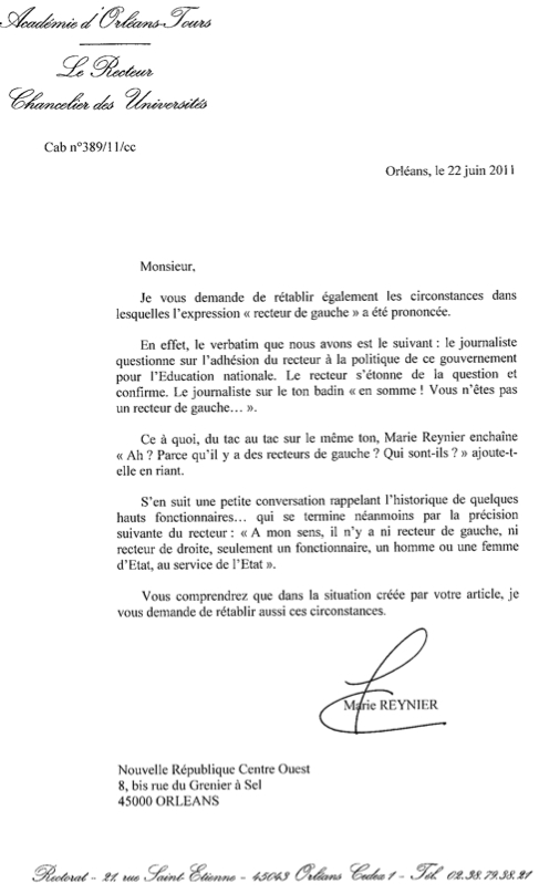 exemple de fin de lettre administrative