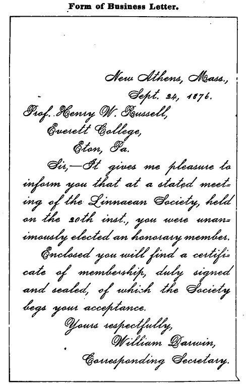 exemple de lettre de correspondance