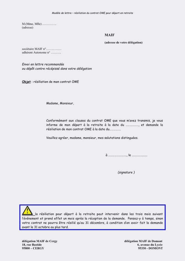 exemple de lettre de dedite