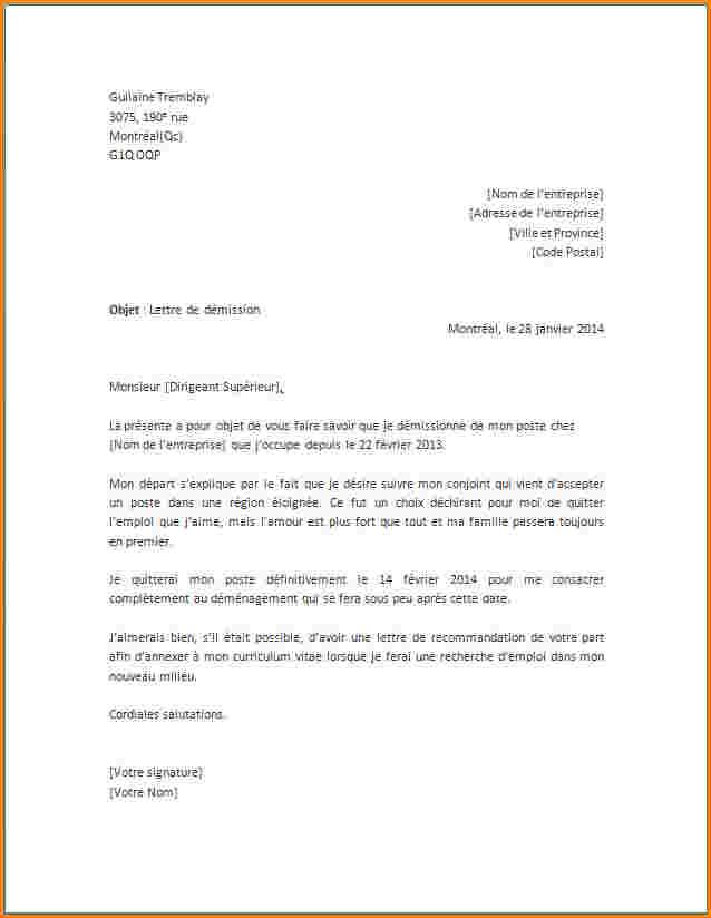 exemple de lettre de demenagement gratuit