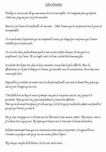 exemple de lettre de mariage gratuit