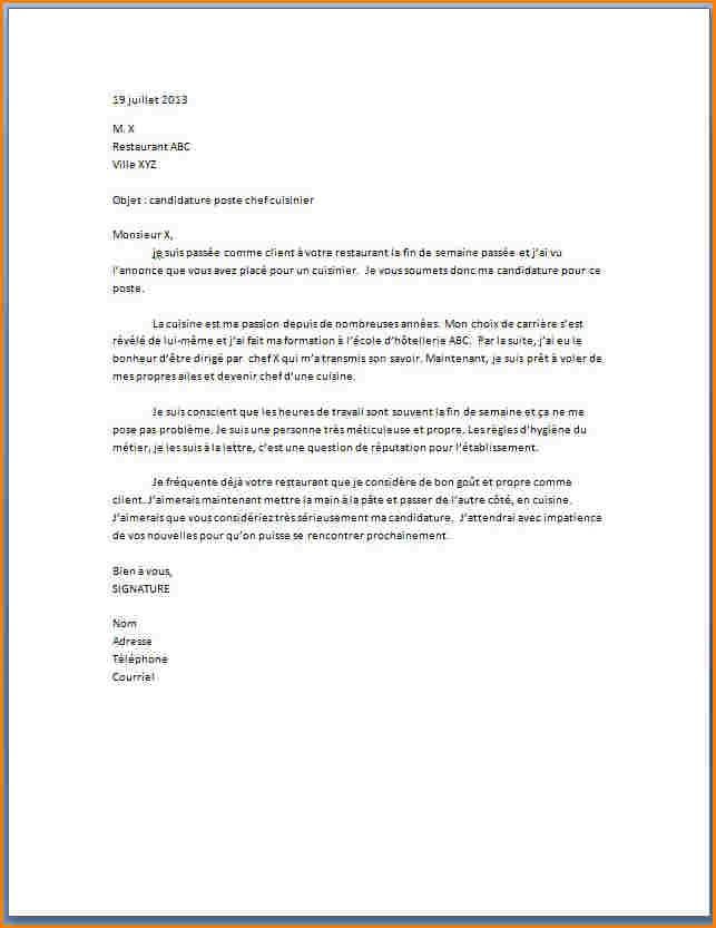 exemple de lettre de motivation pour cdd