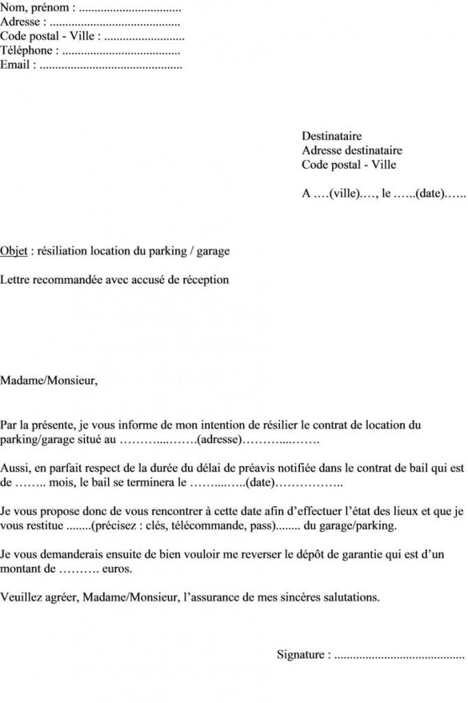 exemple de lettre de preavis d un logement