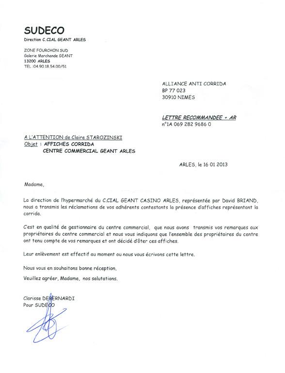 exemple de lettre de reclamation commerciale