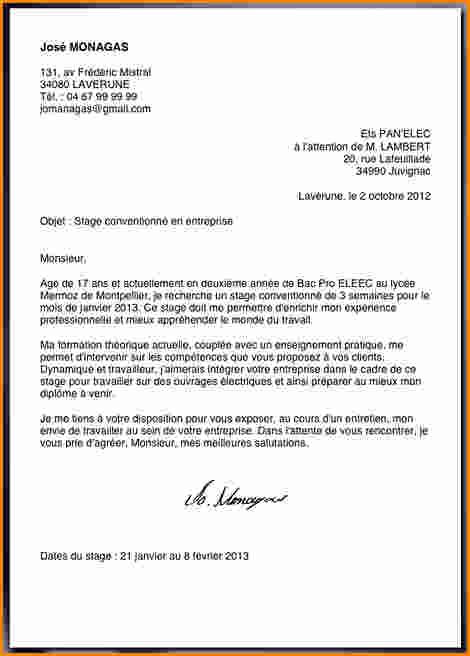 exemple de lettre officielle
