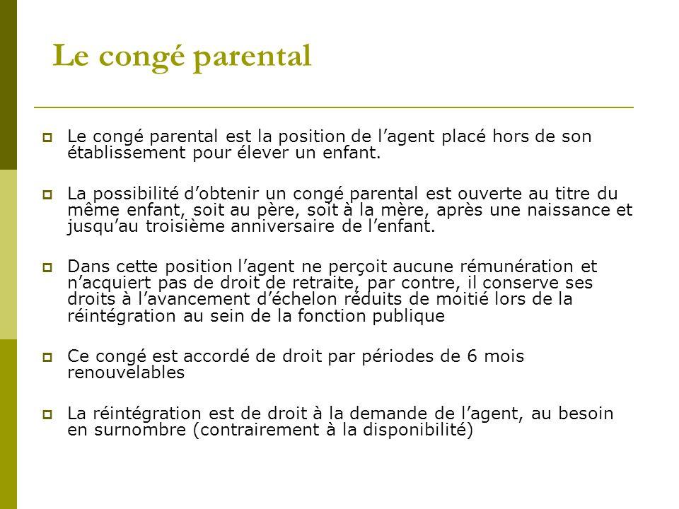 exemple de lettre pour conge parental de 6 mois