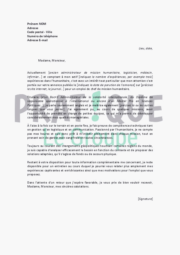 exemple de lettre resiliation internet