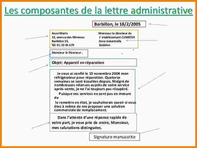 exemple de lettres administratives